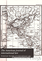 The American journal of international law.