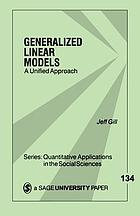 Generalized linear models : a unified approach
