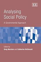 Analysing Social Policy: A Governmental Approach cover image