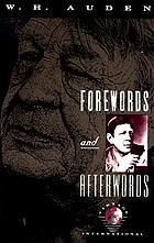 Forewords and afterword