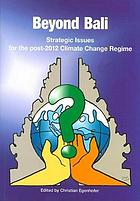 Beyond Bali : strategic issues for the post-2012 climate change regime