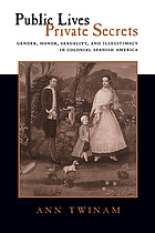 Public lives, private secrets : gender, honor, sexuality, and illegitimacy in colonial Spanish America