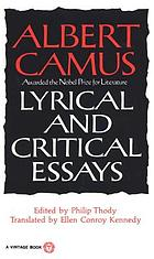 Lyrical and critical essays.