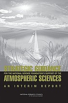 Strategic guidance for the National Science Foundation's support of the atmospheric sciences : an interim report