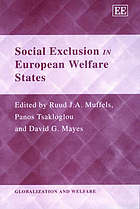 Social exclusion in European welfare states