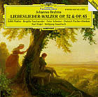 Liebeslieder : op. 52, Walzer = Love songs = Chants d'amour ; Neue Liebeslieder : op. 65, Walzer = New love songs = Nouveaux chants d'amour ; Drei Quartette op. 64 = Vocal quartets = Quatuors vocaux