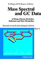 Mass spectral and GC data of drugs, poisons, pesticides, pollutants, and their metabolites