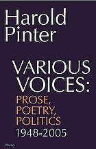 Various voices : prose, poetry, politics, 1948-2005