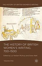 The history of British women's writing
