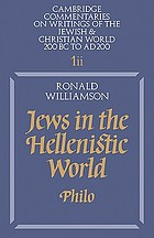 Jews in the Hellenistic world : Philo