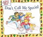 Don't call me special : a first look at disability
