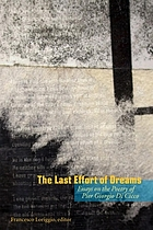 The last effort of dreams : essays on the poetry of Pier Giorgio Di Cicco