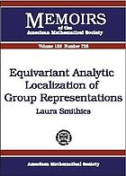 Equivariant analytic localization of group representations