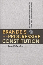 Brandeis and the progressive constitution : Erie, the judicial power, and the politics of the federal courts in twentieth-century America