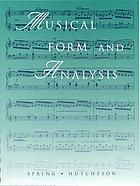 Musical form and analysis