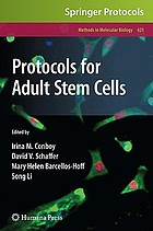 Protocols for adult stem cells