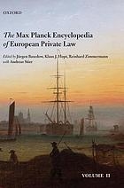 The Max Planck encyclopedia of European private law. Vol. 2
