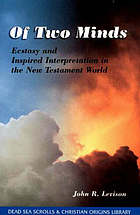Of two minds : ecstasy and inspired interpretation in the New Testament world