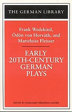 Early 20th-century German plays