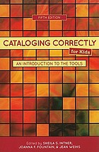 Cataloging correctly for kids : an introduction to the tools.