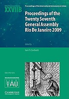 Proceedings of the twenty seventh general assembly, Rio de Janeiro, Brazil, 2009