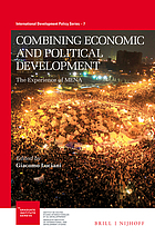 Combining economic and political development : the experience of MENA