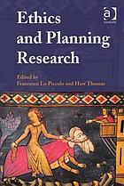 Ethics and Planning Research cover image