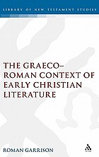 The Graeco-Roman context of early Christian literature