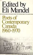 Poets of contemporary Canada, 1960-1970;