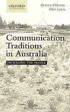 Communication traditions in Australia : packaging the people