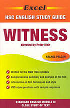 Witness directed by Peter Weir : HSC Standard English