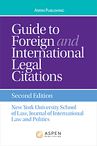 Guide to foreign and international legal citations.