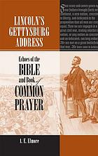 Lincoln's Gettysburg address : echoes of the Bible and Book of Common Prayer