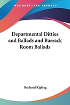 Departmental ditties and ballads and barrack room ballads