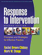 Response to intervention : principles and strategies for effective practice