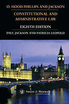 O. Hood Phillips & Jackson : constitutional and administrative law.