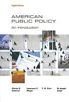 American public policy : an introduction