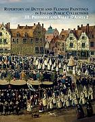 Repertory of Dutch and Flemish paintings in Italian public collections