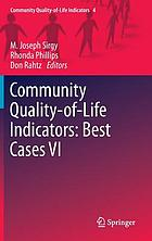 Community quality-of-life indicators : best cases VI