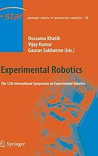 Experimental robotics : the 12th International Symposium on Experimental Robotics