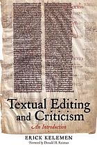 Textual editing and criticism : an introduction