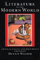 Literature in the modern world : critical essays and documents