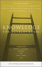 Knowledge for development? : Comparing British, Japanese, Swedish and World Bank aid