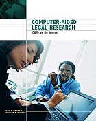Computer-aided legal research (CALR) on the Internet
