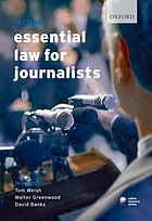 McNae's essential law for journalists.