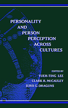 Personality and person perception across cultures