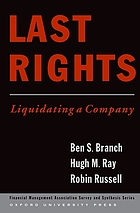 Last rights : liquidating a company