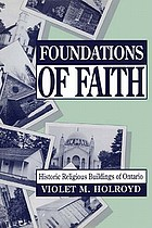 Foundations of faith : historic religious buildings of Ontario