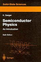 Semiconductor physics : an introduction