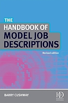 The handbook of model job descriptions, revised edition